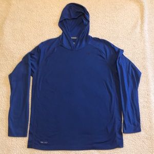 EUC Large Nike Dri-fit hooded running shirt